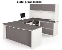 U Shaped Desk Bestar 93863 Connexion Executive U Shaped Desk W Hutch