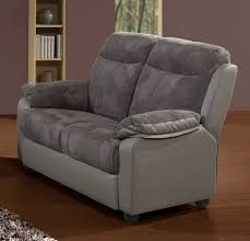 canapé 2 places electrique ensemble canapé de relaxation électrique 3 2 places gris virton