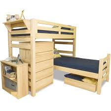 university loft graduate series twin xl sr crew loft bed natural