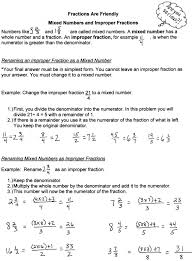 worksheets for fraction addition improper fractions and mixed
