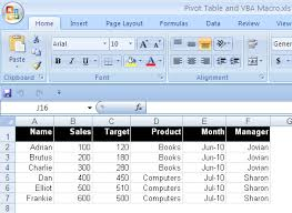 how to update pivot table pivot table vba vba to read modify a pivot table in excel excel