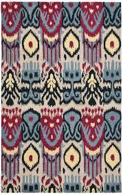 Ikat Outdoor Rug Floors U0026 Rugs Modern Purpel Ikat Rug