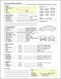 Inspection Checklist Template Excel Vehicle Inspection Checklist Template Inspection