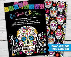 Dia De Los Muertos Home Decor Sugar Skull Party Invitation Dia De Los Muertos Invitations