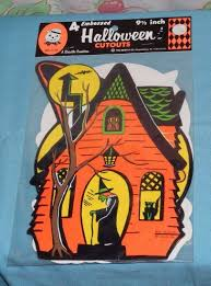 witch cutouts halloween vintage beistle halloween cutouts decorations mip new sealed witch