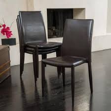 bonded leather dining room u0026 kitchen chairs shop the best deals