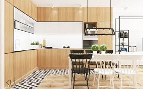 kitchen scandinavian kitchen features simple wooden frames also