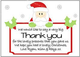 christmas thank you cards personalised santa christmas thank you cards x 10 with