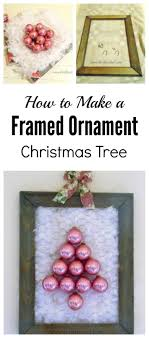 framed chicken wire and vintage ornaments thrifty
