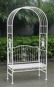 bentley garden white wrought iron shabby chic garden outdoor arch