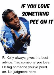 R Kelly Memes - if you love something pee on it r kelly always gives the best advice