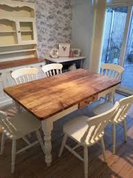 shabby chic dining table diy white floor tile white clear glass