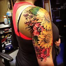 colorful sunflower tattoo tattoomagz
