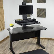 Adjustable Computer Stand For Desk The Duke Adjustable Desktop Workstation