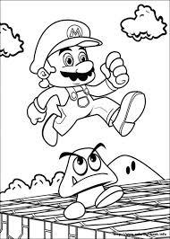 20 free printable super mario coloring pages mario