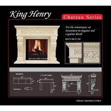 historic mantels chateau series king henry 50 in x 62 in cast