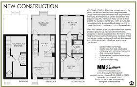 row house floor plan new row home floor plan new home plans design