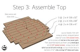 Free Woodworking Plans Round Coffee Table by Round Trestle Dining Table Free Diy Plans Rogue Engineer