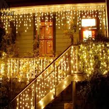 string lights outdoor christmas lights outdoor decoration 3 5m droop 0 3 0 5m led curtain