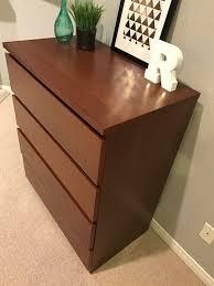 Malm Computer Desk Ikea Malm 4 Drawer Dresser Brown Stained Ash Veneer Furniture