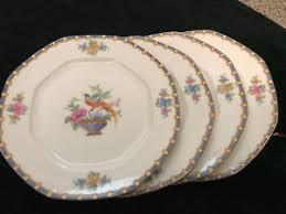 vintage china pattern 4 vintage china b b plates 1 bird mz altrohlau chantilly pattern