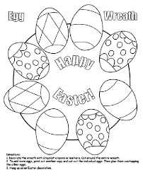 easter egg wreath coloring page digital stamps pinterest