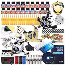 amazon com complete tattoo kit 3 machine gun 20 color ink power