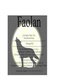 faolan name means wolf nydob com