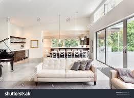 huge luxury homes beautiful living room new luxury home stock photo 295500155