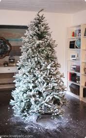 flocked christmas tree diy flocked christmas tree one year later christmas tree flocked