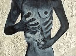 painting looking at eating disorder anorexia bulimia using ink