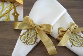 wedding napkins personalized monogram embroidered silk napkins