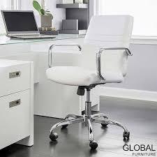 global furniture bonded leather sofa global furniture bonded leather task chair in white costco uk