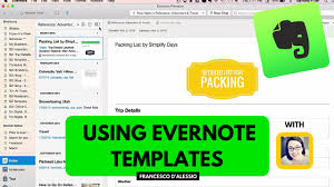 Templates Evernote by Using Evernote Templates Workshop From Simply Days