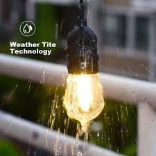 commercial grade outdoor patio string lights 48 ft u2013 light for