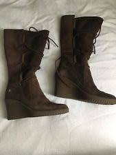 ugg australia s emalie waterproof wedge boot 7us stout brown ugg australia wedge med 1 in to 2 3 4 in boots for ebay