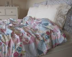Queen Shabby Chic Bedding by Shabby Chic Bedding Red Green Pink Roses Floral Print