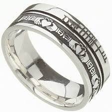 Claddagh Wedding Ring by Irish Rings Comfort Fit Faith Claddagh Wedding Band At Irishshop