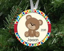 Custom Made Christmas Ornaments Canada by Teddy Bear Ornament Etsy