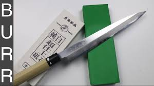 how to sharpen yanagiba japanese sushi knife youtube