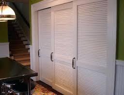 Slatted Closet Doors Plantation Louvered Sliding Closet Doors Ppi
