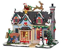 lemax christmas lemax christmas best decorated house with 4 5v adaptor 25337uk