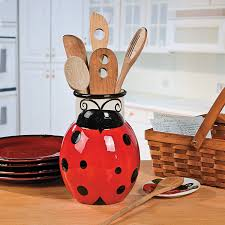 ladybug utensil holder orientaltrading com my future kitchen