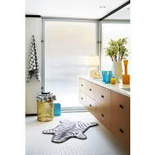 reversible zebra bathmat modern bed u0026 bath jonathan adler