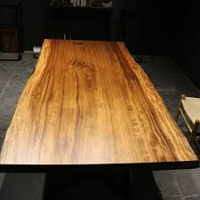 natural wood table top natural sides solid wood table top simple metal or wooden leg design
