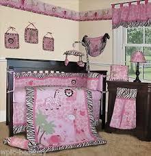 Team Safari Crib Bedding Baby Boutique Pink Safari 15 Pcs Nursery Crib Bedding Set