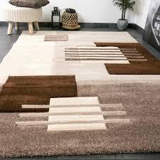 designer teppich moderner designer teppich konturenschnitt kariert formen in beige