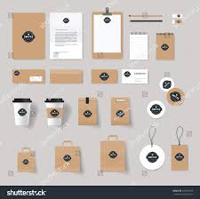 corporate branding identity mock template coffee imagem vetorial