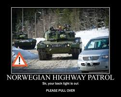 Norway Meme - norwegian highway patrol military humor