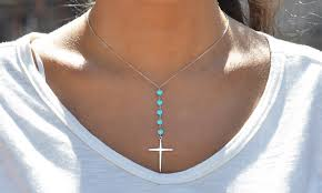 real turquoise pendant necklace images Gemstone pearl necklaces deals coupons groupon jpg